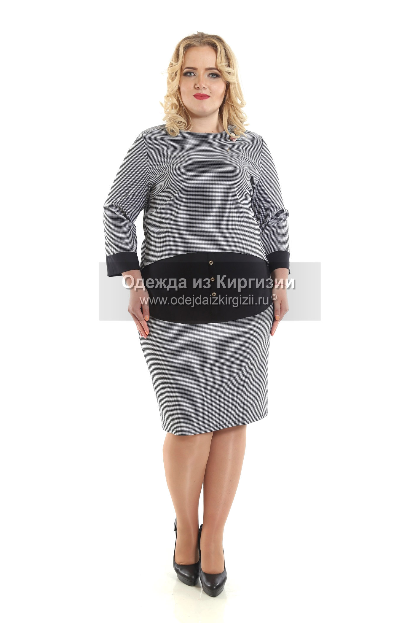 Платье MZO-Горох гофре-01
