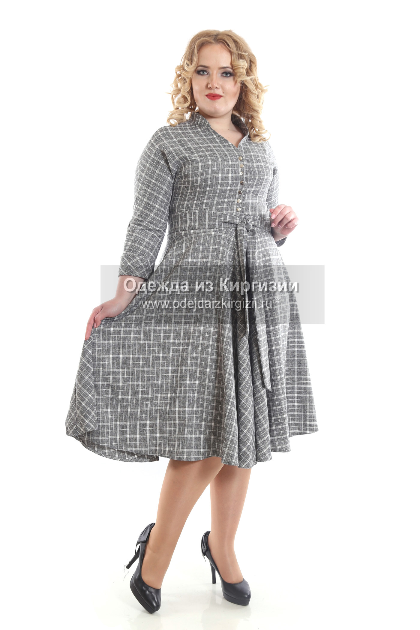 Платье VAN-Клетка-02